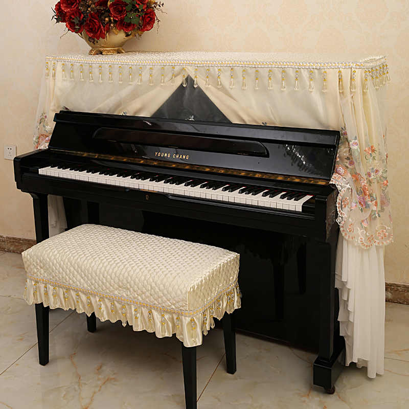 JaneYU брак тонкая кружевная ткань чехол для пианино высокого качества пылезащитный полный Чехол сельская принцесса простой современный простой скамейка для пианино