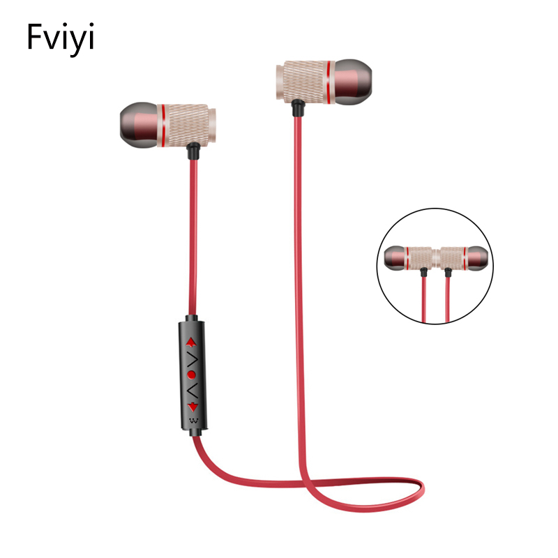 Fviyi S2 Sports Headsets Wireless Bluetooth Headphones Magnetic In-Ear Stereo Headset  for iPhone Smartphones
