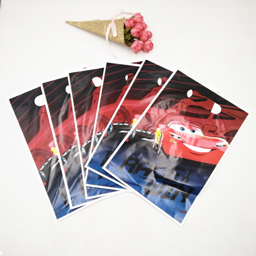 Disney 6pc/set Lightning Mcqueen Birthday Party Supplies Baby Shower Favor Decor Event Gift Bag For Girls