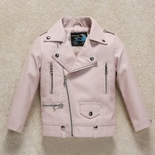 Kids Clothes PU Leather Girls Jackets 2019 Winter Stylish Boys Jackets