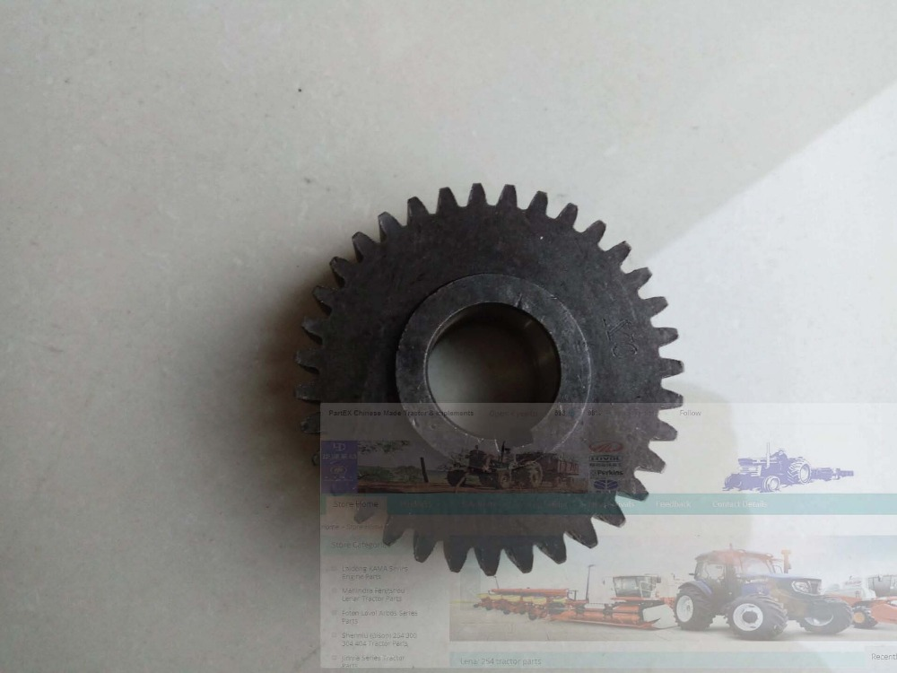 Hebei Xingtai XT180 tractor parts, the gear for power put off, part number: laidong engine parts for tractor use the km4l22bt the fuel injection timing gear part number 4l22bt 01011