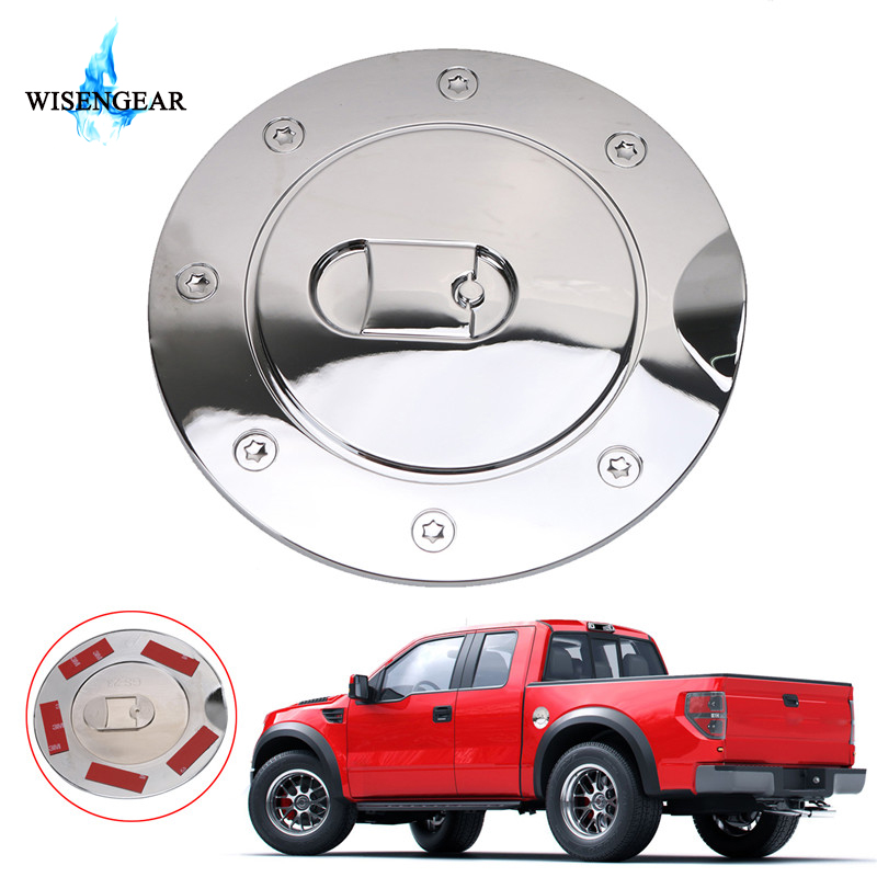Chrome Gas Door Cover Fuel Tank Oil Cap Trim For Ford F-150 F150 Car Accessary*1