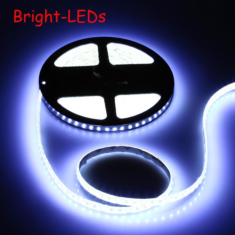 5m Led Strip Light 3528smd 600leds Super Bright Dc12v Stripe String Led Tape Waterproof Outdoor