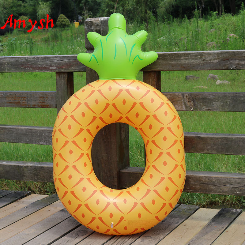 Amysh 120cm inflatable pineapple swimming ring giant pool for Swimming pool 120 cm tief