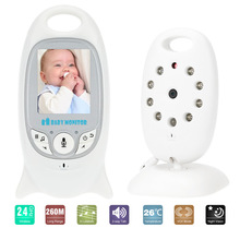 VB601 Wireless Baby Video Monitor Rechargeable Battery Nanny Camera With 2 Inch Display Temperature Monitoring Two-way Audio
