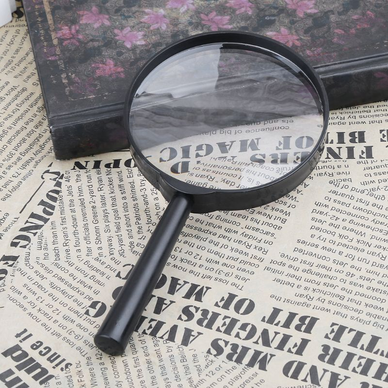 90mm Handheld Magnifier 5X Reading Map Newspaper Magnifying Glass Jewelry Loupe