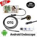 7mm 2 M Android USB Endoscópio Câmera USB Endoscópio Snake Inspeção Tubo USB OTG Andorid Móvel À Prova D' Água Telefone Inteligente câmera