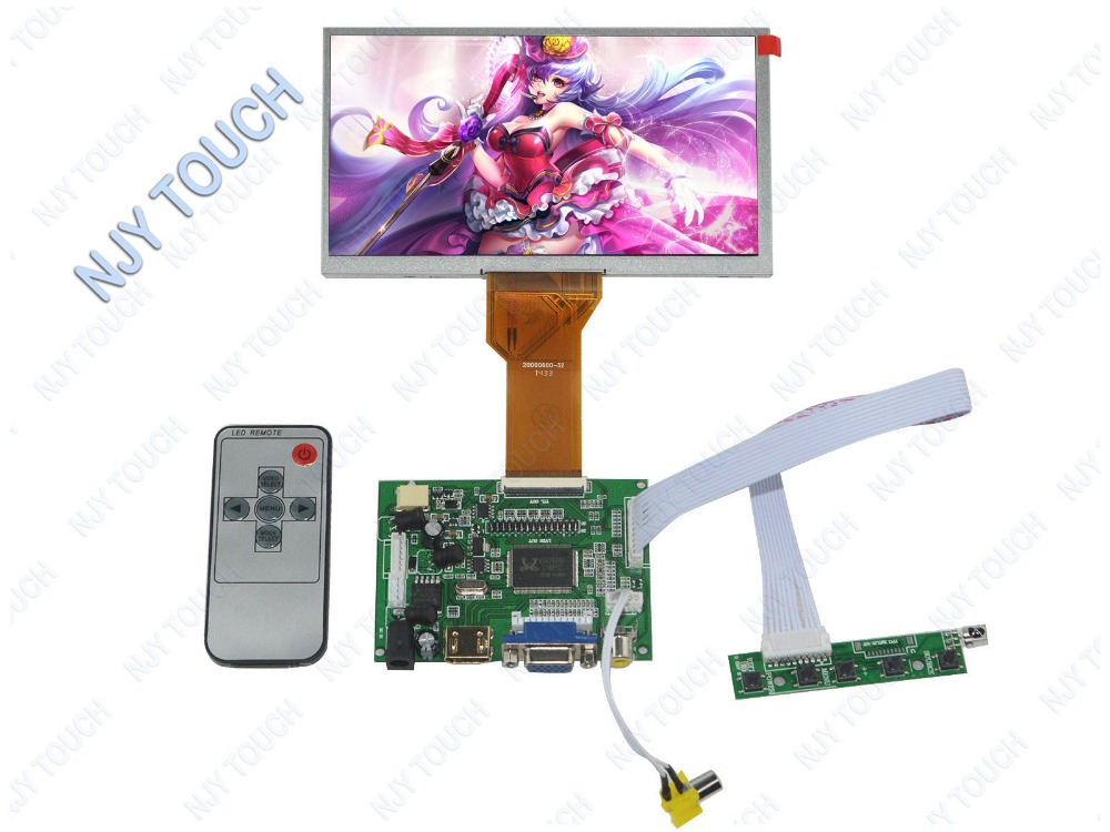 Free shipping 7inch TFT AT070TN92 800x480 50Pin LCD Pane Plus HDMI VGA AV LCD Controller Board DIY Kit comazo шорты домашние