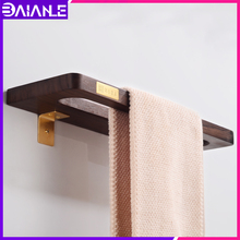 Towel Ring Holder Brass Wood Toilet Bar Decorative Wall Mounted Rack Hanging Bathroom Accessories