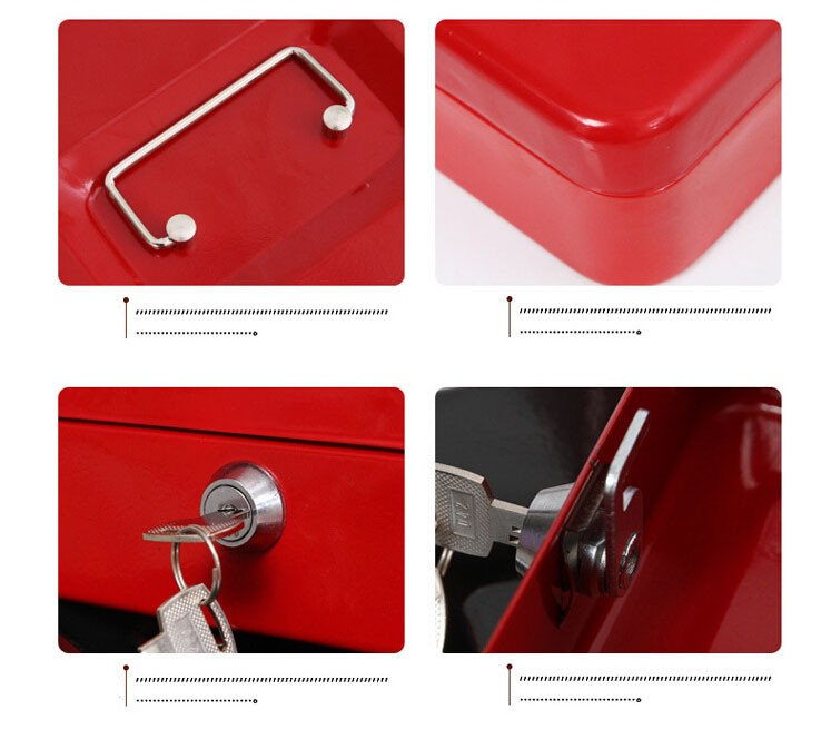 Mini Portable Security Safe Box Money Jewelry Storage Collection Box For Home School Office With Compartment Tray Lockable XS (10)