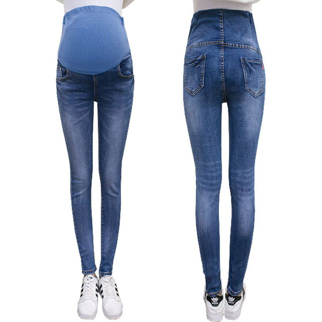 c39bf71f5 Jeans For Pregnant Women Stretch Denim Trousers Nursing Maternity Clothes  Elastic Waist Pregnancy Pants Autumn Maternity Clothes