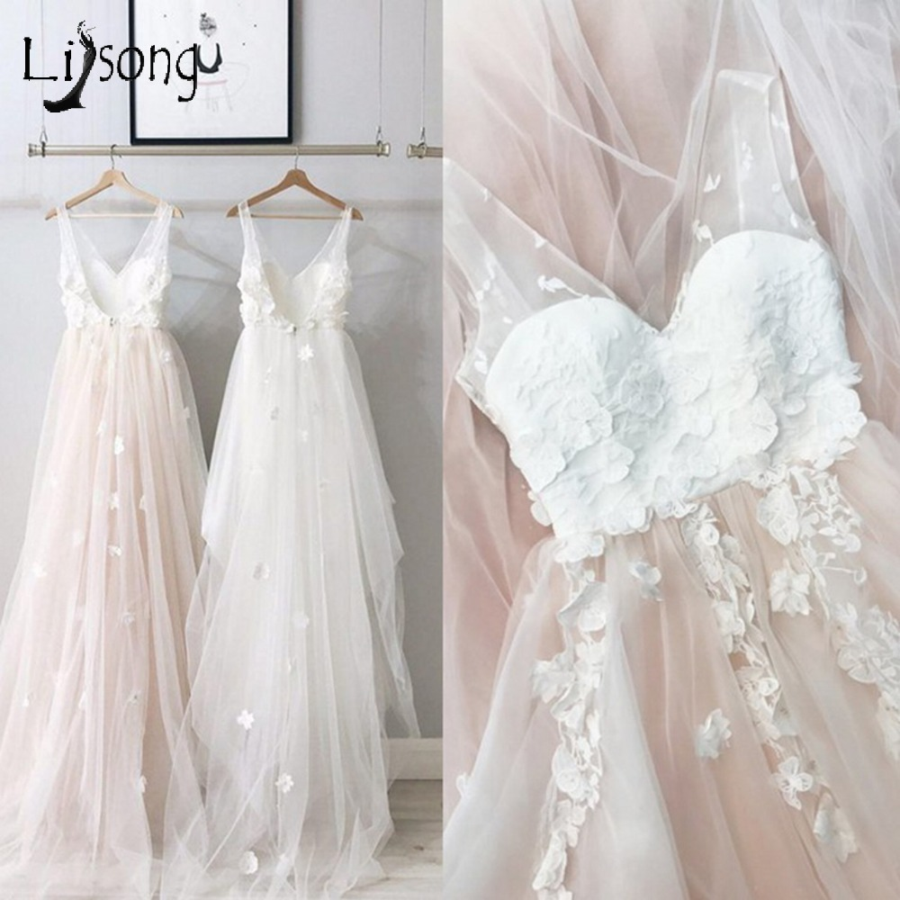 Abendkleider 2018 Blush Pink Floral Tulle   Prom     Dresses   2018 Sexy Backless Lace A-line   Prom   Gowns Robe De Soiree Formal   Dresses
