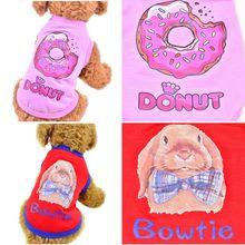Dog Vest Fashionable Pink Donuts