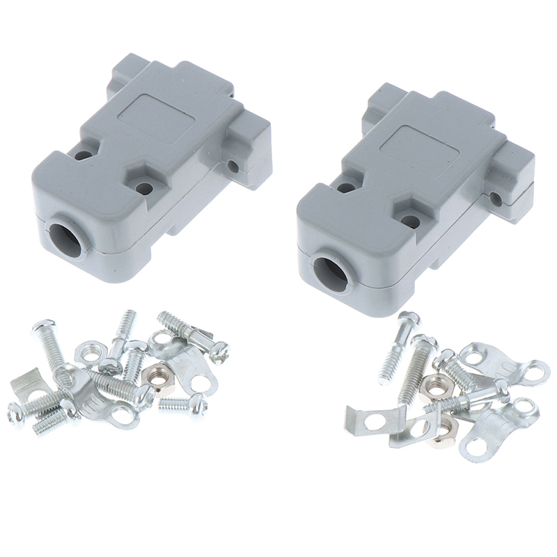 5 Sets Connector Serial DB9 & Grey Hood DB9 Plastic Shell With Screws