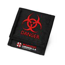 Resident Evil Wallet Umbrella Danger Symbol Purse Short Velcro Carteira Children Wallets Men