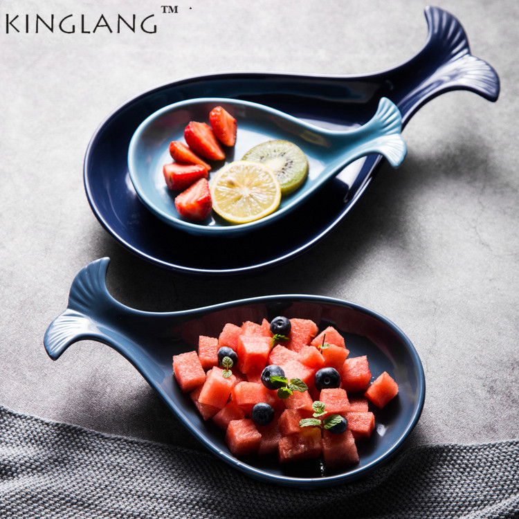 US 10 OFF 3 Sizes Whale Shape Plates Set Unique Household Plate Kitchen Dish In Bowls From Home Garden On Alibaba Group