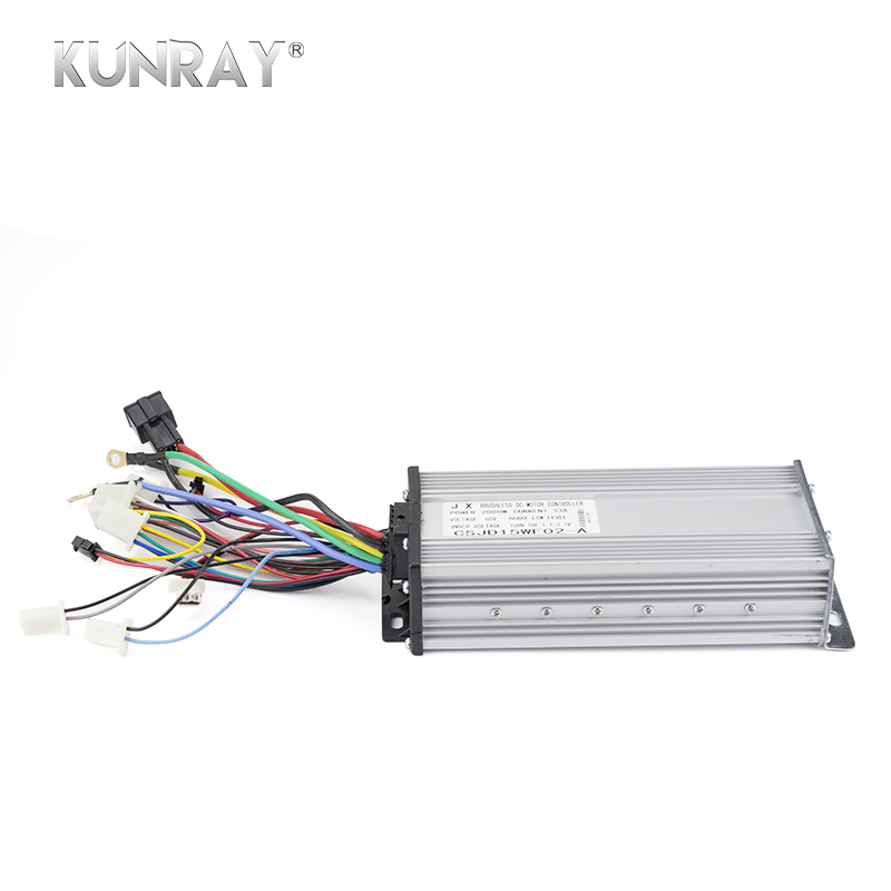 KUNRAY 2000W 60V DC 35A 15Mosfet Controller For Brushless BLDC Motor E-bike Electric Scooter Bicycle E-car Accessories Parts bldc motor driver controller 120w 12v 30v dc brushless motor driver bld 120a