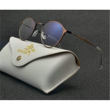 ea7b2abe95 Brun TR90 Titane Lunettes Cadre Femmes Hommes Objectif Clair Myopie optique lunettes  Montures de lunettes de NX