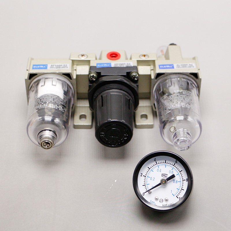 AC2000-02 1/4 1/8 inch Pneumatic FRL Air Filter Regulator Source Treatment Unit Oil-Water Separator Lubricator Filtrator pneumatic frl air filter regulator ac2000 1 4 inch air service unit air tac type pressure reducing valve atomized lubricator