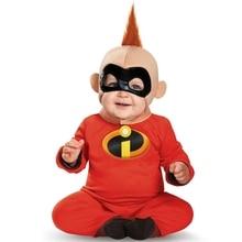 Fantasia do baby jack para halloween, fantasia de sr. incrível 2, macacão para adultos e bebês, cosplay