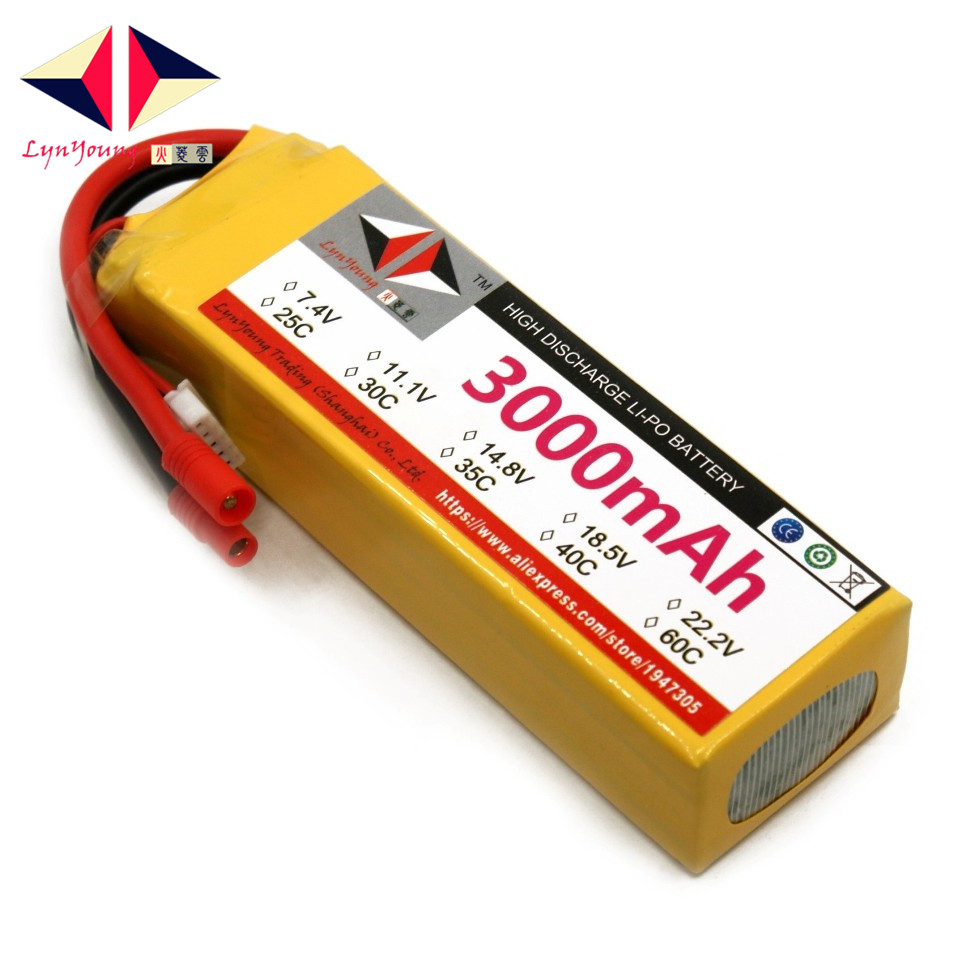 LYNYOUNG battery lipo 4S 3000mAh 14.8V 35C for RC bike Drone Boat plane Car Truck Helicopter wild scorpion 11 1v 5500mah 35c rc car helicopter model plane lipo battery free shipping