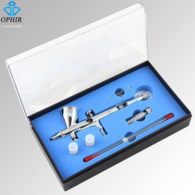 airbrush taart decoratie OPHIR 3 Tips Pro Zwaartekracht Dual Action Airbrush Kit voor Model  airbrush taart decoratie