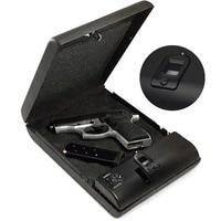 Portable Fingerprint Box Gun Safes Safe Fingerprint Sensor Box Security Keybox OS100A Strongbox for Valuables Jewelry Cash