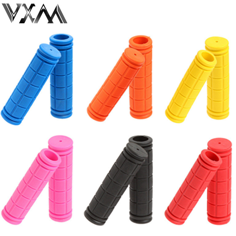 Double Lock Soft Rubber Cycling BMX MTB Mountain Bike Scooter Fixed Gear Handlebar Grips Bicycle Parts Accessory Tool