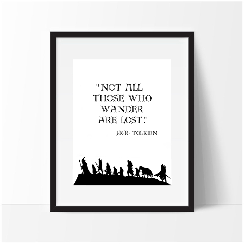 The Lord Of The Rings Quote Wall Art Canvas Print And