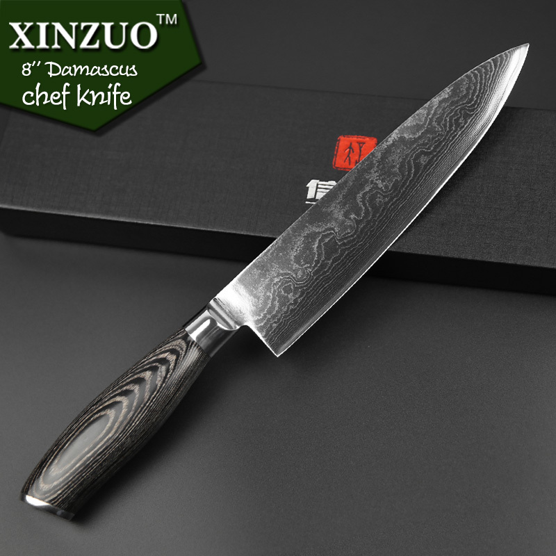 damascus knife set xinzuo 3 piece knife set damascus merchant. Black Bedroom Furniture Sets. Home Design Ideas