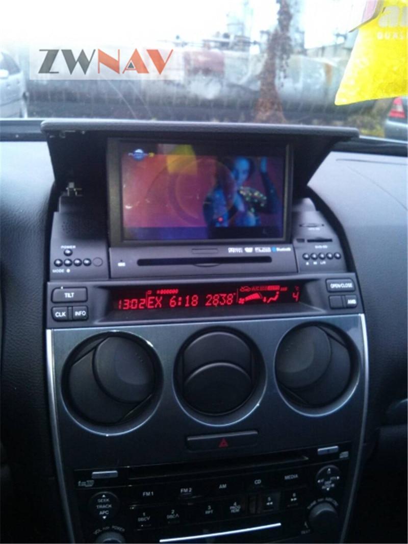 את האחרון אנדרואיד מערכת רכב GPS ראש יחידה אוטומטי רדיו מולטימדיה נגן סטריאו ניווט GPS עבור מאזדה 6 2002- 2008 מפה חינם