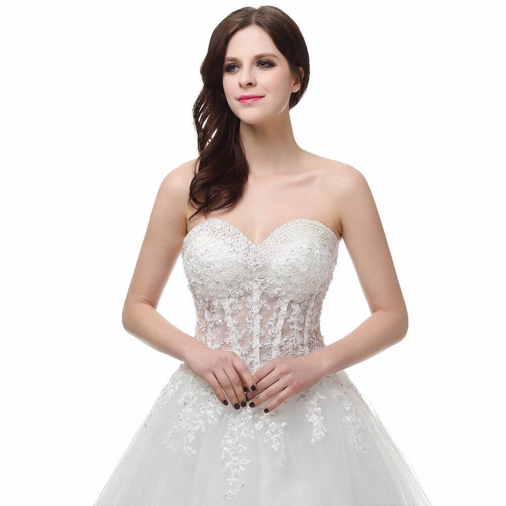 LORIE Land Trouwjurk Sweetheart Romantische Kant Applicaties met Kralen  Sexy Trouwjurk Prinses 2017 Wedding Party in LORIE Land Trouwjurk  Sweetheart ... 606d735bf4ba