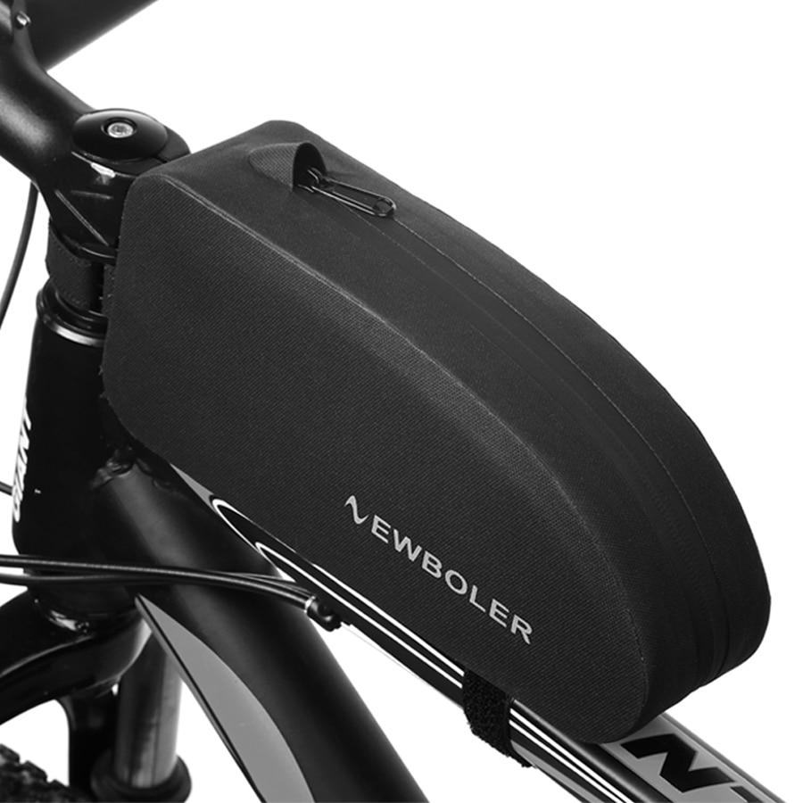 NEWBOLER Bicycle Bags Waterproof Cycling Top Front Tube Frame Bag Large Capacity MTB Road Bicycle Pannier Black Bike Accessories