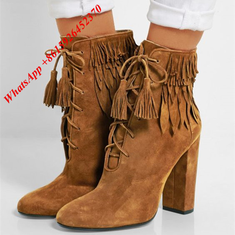 Popular Tan Fringe Boots-Buy Cheap Tan Fringe Boots lots from ...