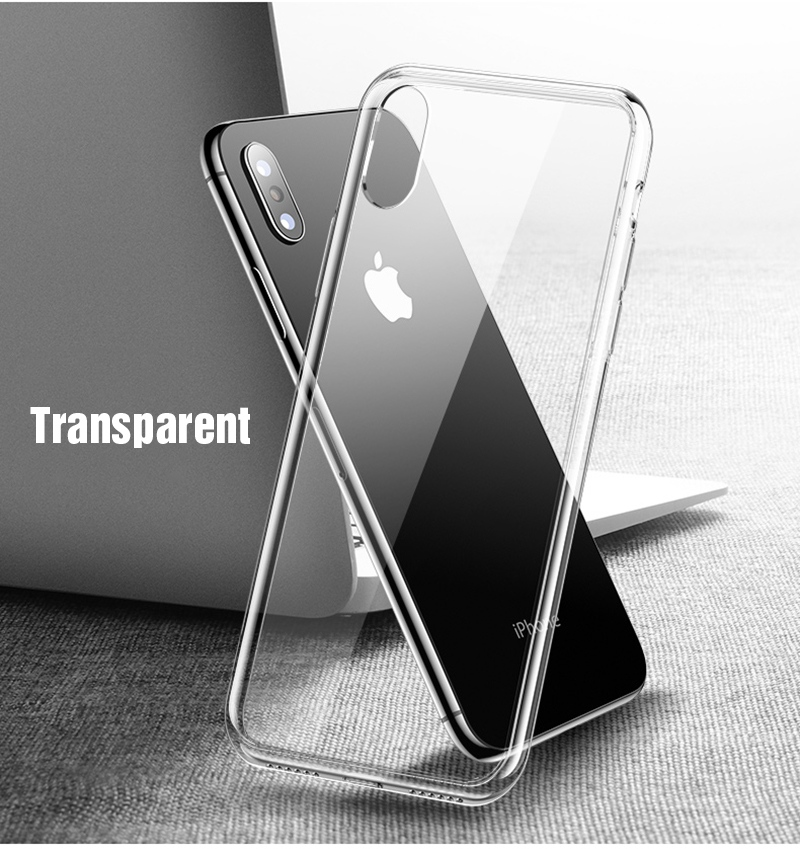 TOMKAS Premium Glass Case For iPhone XS XS Plus Cases Transparent Luxury Silicone Edge Glass Back Cover For iPhone X 2018 Case (2)