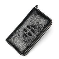 Настоящий крокодиловый узор Кошельки для монет держатель для карт из натуральной кожи мужской кошелек портмоне Мужская Аллигатор длинный
