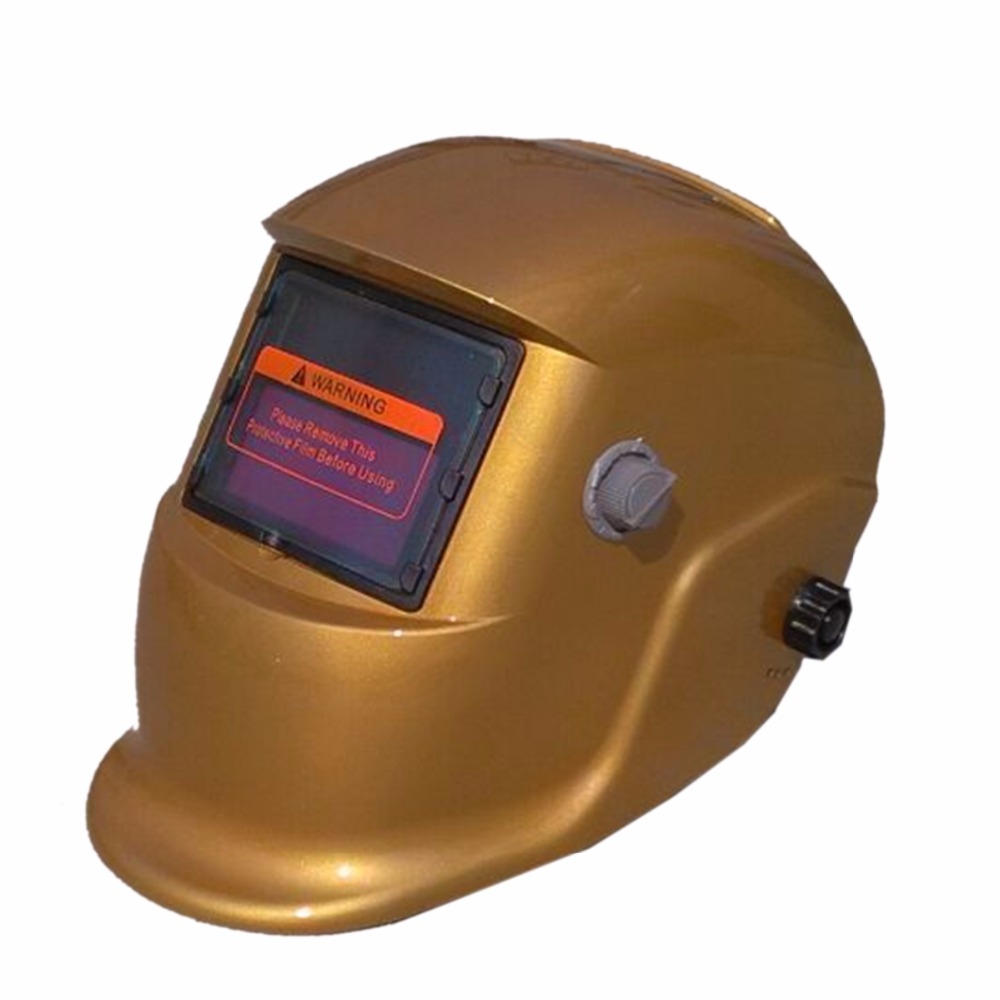 Easily Golden Weld Cap Welding Protection Caps Solar Auto Darkening MIG TIG MMA Electric Welding Mask/Helmet/Welder Cap dekopro skull solar auto darkening mig mma electric welding mask helmet welder cap welding lens for welding machine