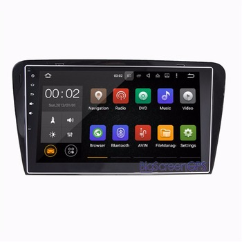 10.2 Inch the Newest Android 8.0 7.1 Car No DVD Player GPS Navi For Skoda Octavia 2014-2017 Stereo Multimedia video Autoradio image