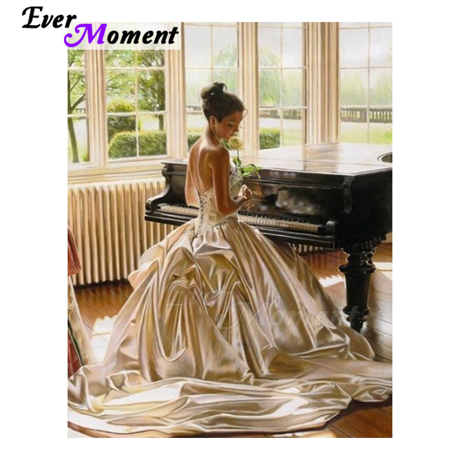 Ever Moment Diamond Embroidery Piano Girl Diamond Mosaic Full Square Drills Artwork Home Decoration Diamond Painting ASF1202Ever Moment Diamond Embroidery Piano Girl Diamond Mosaic Full Square Drills Artwork Home Decoration Diamond Painting ASF1202