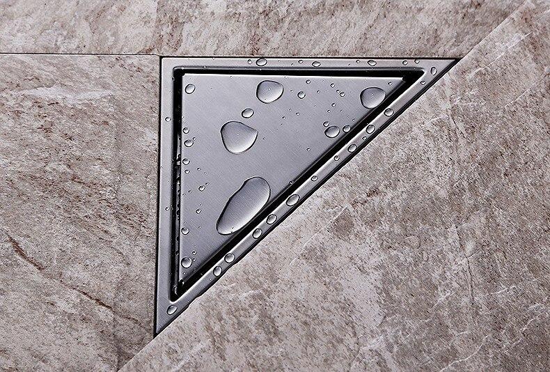 Premintehdw 304 acier inoxydable Triangle plancher douche égouttoir désodorisant désodorisant carrelage Insert grille