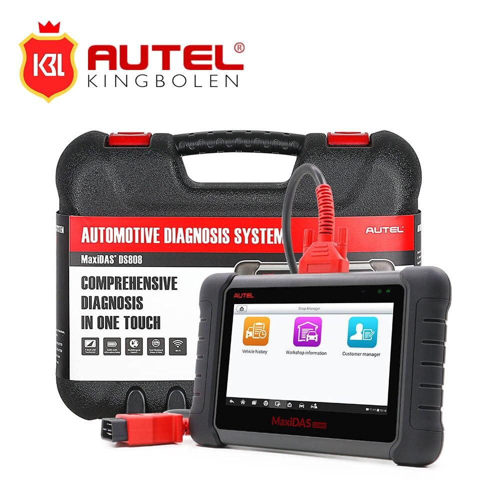 Цена за MaxiDAS DS808 интернет-Обновление Автомобильная инструмент диагностики мощный DS 808 сканер же как Autel ms906 лучше, чем Autel DS708