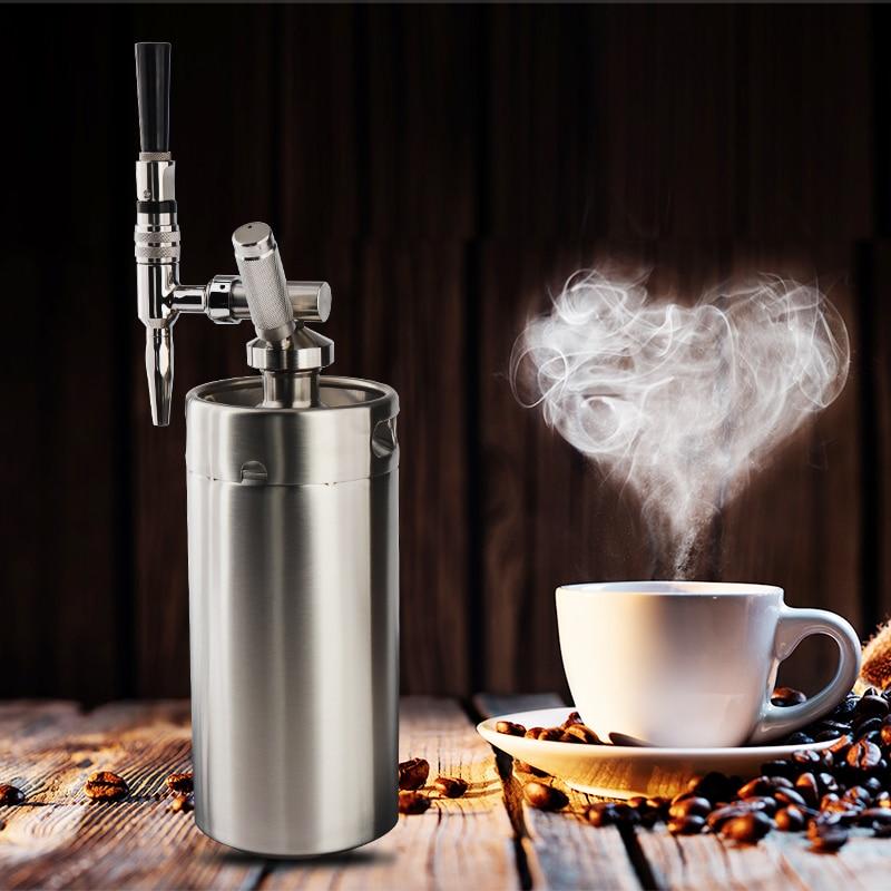 DIY Nitro zimny napar ekspres do kawy z 4L Mini Keg ze stali nierdzewnej domowe warzenie zestaw do organizacji kawy