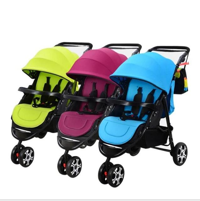 Infants and twin baby stroller double shock can split multiple birth children can sit flat folding full bottle   free delivery 4