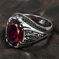 Guaranteed 925 Silver Rings Luxury Turkish Jewellery For Men And Women With Zircon Stone Retro Vintage Rings In Fijne Sieraden
