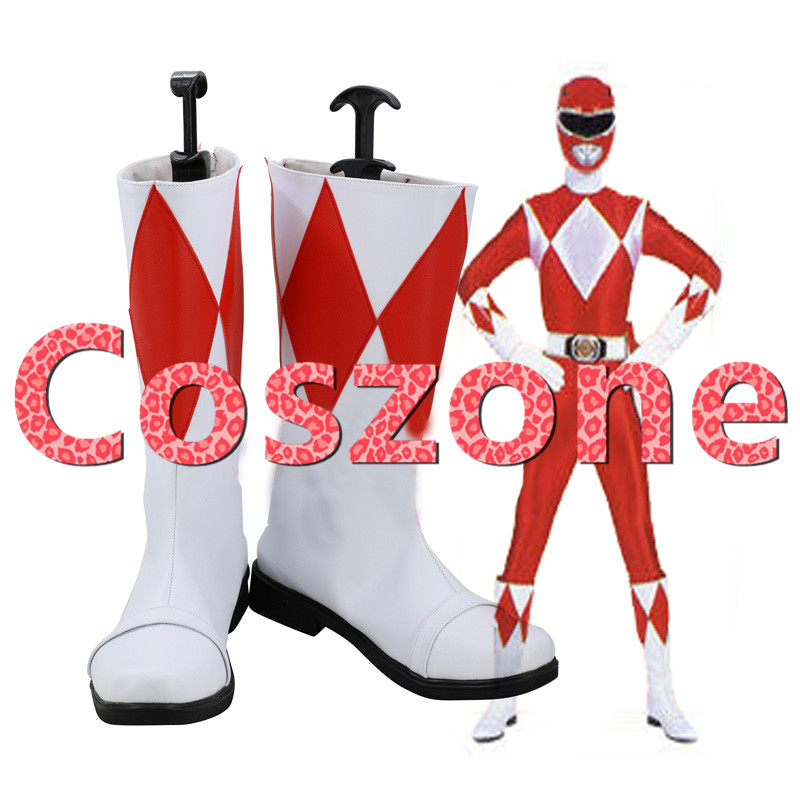 US $49 5 25% OFF|Kyoryusentai Zyuranger The Red Ranger Mighty Morphin  Cosplay Shoes Boots Halloween Cosplay Costume Accessories-in Shoes from  Novelty