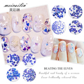 New 1Box Blue Shiny Colorful Nail Art Glitter Powder Decoration Beauty Tips Nails Hexagon Paillette Nails Stud Stickers Manicure