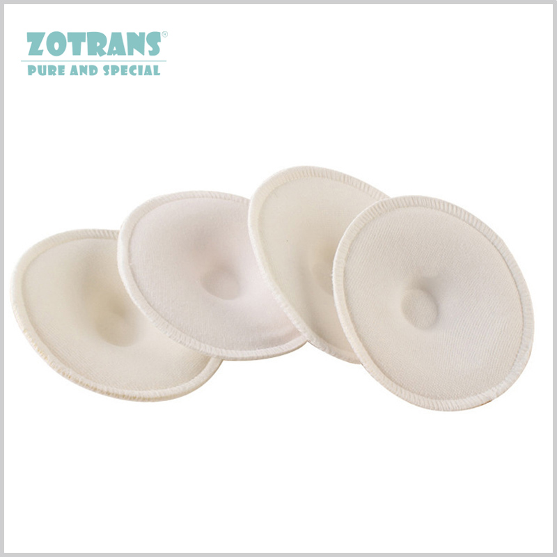 4Pcs Breast Absorbent Pads Feeding Nursing Reusable Soft Cotton Absorbent M M Spill Prevention Pads Bra Breast Feeding Washable