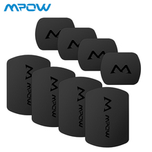 Mpow 4/8packs Mount Metal Plate Universal Replacement Kit with 3M Adhesive for Magnetic Car Phone Holder