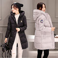 Women's Goose Down Parka White Duck Down Jacket Ladies Warm Winter Down Coats Long Slim Plus Size 3XL Big Hooded Thick Pregnant