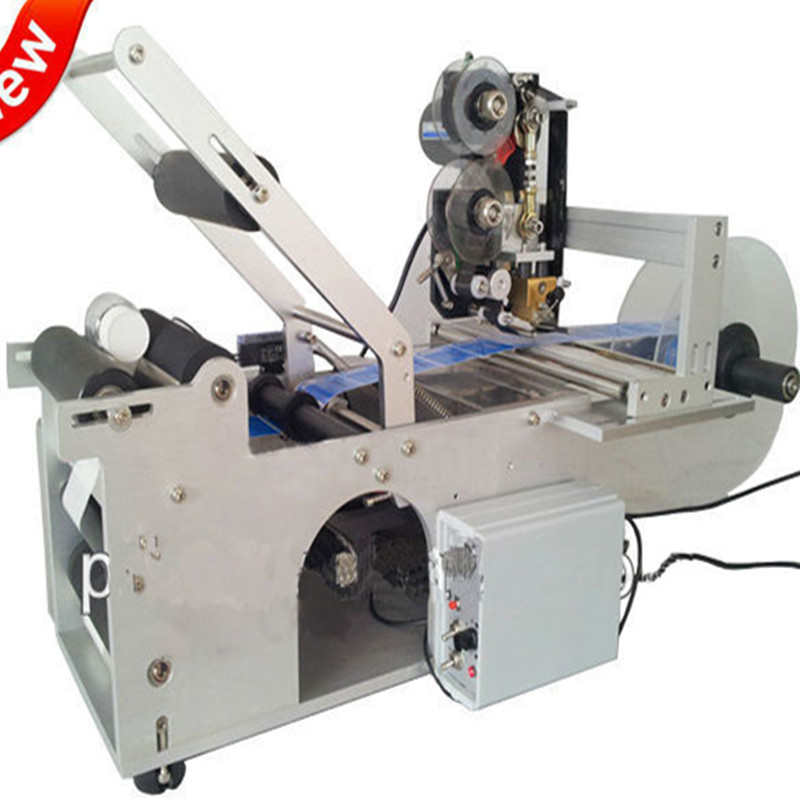 Round Bottle Labeling Machine with date printer GRIND high speed round bottle beer bottle labeling machine with label marking machine date code printer